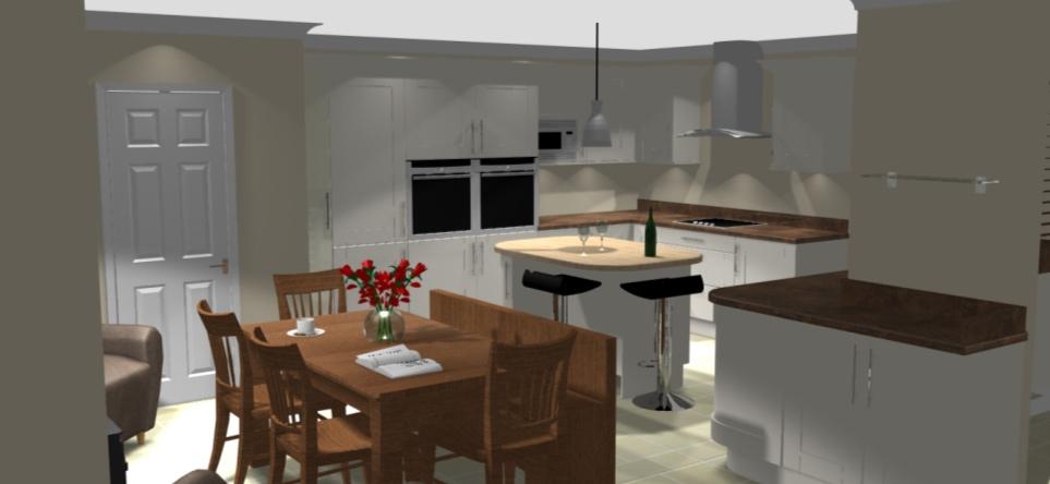 Kitchen dining room design for Kitchen designs lancashire