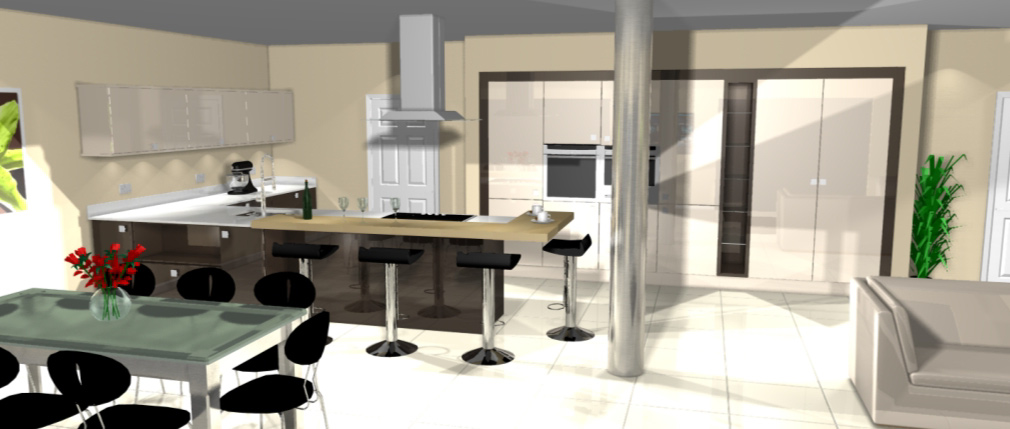 Large kitchen design for Kitchen designs lancashire